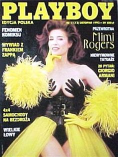 Playboy (Poland) November 1993  with Mimi Rogers on the cover of the magazine