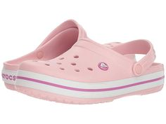 Have An Inquiring Mind Classic Crocs Womens Size 8-9 Pink Roomy Fit Shoes Clogs Slides Men's Clothing