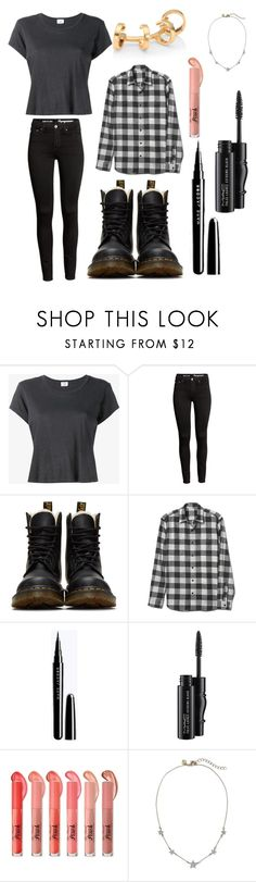 """""""Untitled #420"""" by lgbtbae12 ❤ liked on Polyvore featuring RE/DONE, Dr. Martens, MAC Cosmetics and Repossi"""