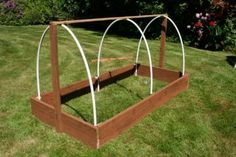 Step-by-step instructions with photos and materials list to build a covered raised bed, like a mini greenhouse! | Build a raised bed cloche in 8 steps | Living the Country Life | http://www.livingthecountrylife.com/gardening/garden-ideas/build-raised-bed-cloche-8-steps/