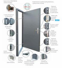 DRZWI METALOWE Garage Gate, Types Of Doors, Steel Doors, Roller Blinds, Bathroom Medicine Cabinet, Locker Storage, Windows, Metal, Gates