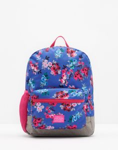 Patch Blue Ditsy Rucksack , Size One Size | Joules UK