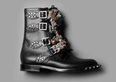 Saint Laurent  By Hedi Slimane.  #YSL #Punkboots