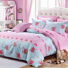 Xinxingmeng® Duvet Cover Sets Twill 100% Cotton Colorful  4 Piece  Multi Color Floral Pigment Print Full – EUR € 56.36