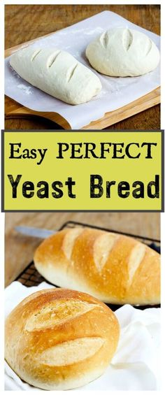 Easiest Perfect Yeast Bread - Simple no fail yeast bread makes 2 delicious artisan loaves. //gatherforbread.com