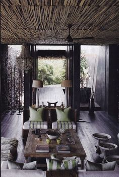 I simply love every inch of this room - African Chic.