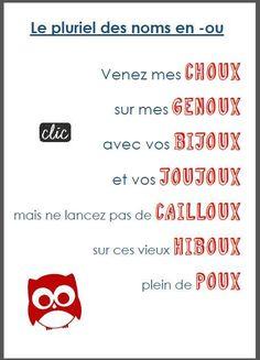 Plural of French Nouns: le pluriel des noms en -ou