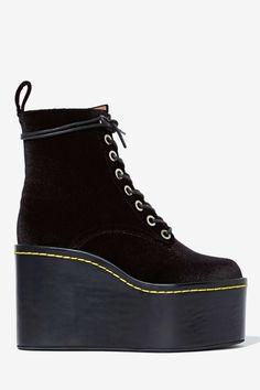 Jeffrey Campbell Commando Velvet Boot