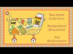 Im Supermarkt (Deutsch als Fremdsprache für Kinder - learn German - apprendre l'allemand) - YouTube