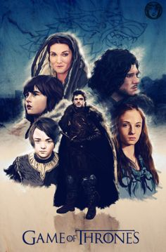 House Stark. Game Of Thrones Poster by Giordan Casanova. Prints Available
