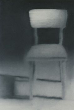 Gerhard Richter Kleiner Stuhl Small Chair  1965 80 cm x 50 cm Catalogue Raisonné: 99  Oil on canvas