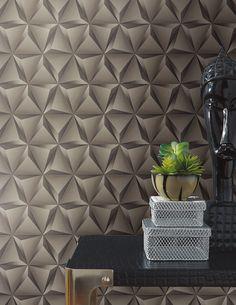 Silver Color Special Design DIY Paper Wholesale Geometrical 3D Wallpaper