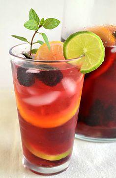 Lipton Tea and Honey Sparkling Sangria Mocktail #FamilyTea Time #Cbias