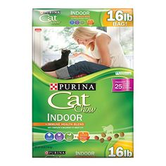 Purina Cat Chow Indoor provides 100% complete & balanced nutrition for adult cats. It's a dry cat food for everyday feeding formulated to suit an indoor adult cat's life. Every meal gives them ju...