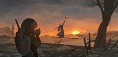 Hyrule's Requiem, The Legend of Zelda: Ocarina of Time artwork by 王动别情