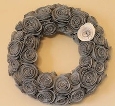 Felt flower wreath - quite pretty.