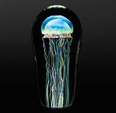 Amazing and beautiful lifelike glass jellyfishes
