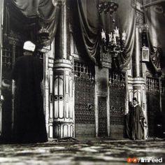قبر الرسول صلى الله عليه وسلم في المسجد النبوي الشريف بالمدينة المنورة في العصر العثماني بين عام ١٩٠٤ - ١٩٠٨ م