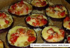 Sütőben sült sajtos padlizsán Diabetic Recipes, My Recipes, Diet Recipes, Healthy Recipes, Baked Eggplant, Eggplant Parmesan, Quiche Muffins, Hungarian Recipes, Healthy Salads