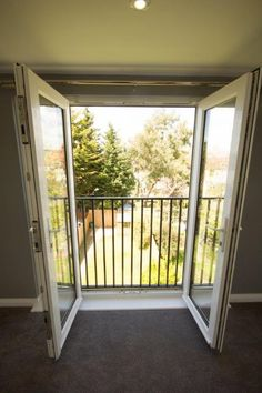 French doors with juliette balcony - Clients - Balcony Window, Bedroom Balcony, Bedroom Doors, Barn Bedrooms, Master Bedrooms, Juliette Balcony, External French Doors, French Balcony, Exterior Doors