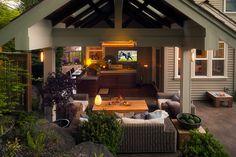 A Framed Gazebo Landscape Design, Portland Oregon | Exterior Design | Paradise Restored