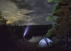 Superior National Forest and the setting moon. (Minnesota) #camping #hiking #outdoors #tent #outdoor #caravan #campsite #travel #fishing #survival #marmot http://bit.ly/2gqB0A6