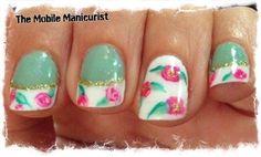 Floral French Mani by mblmani - Nail Art Gallery nailartgallery.nailsmag.com by Nails Magazine www.nailsmag.com #nailart