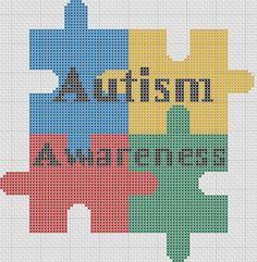 Autism Awareness cross stitch