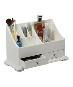 Take a look at this White Small Cosmetic Organizer by Richards Homewares on #zulily today!