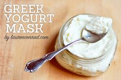DIY Beauty: My Greek Yogurt Mask; Greek yogurt contains lactose enzymes, which dissolve dirt and nourish your skin. Essentially, it works like a cleanser while the probiotic invigorates your skin leaving it with a lovely glow. This combination also helps to reduce redness and calm breakouts.