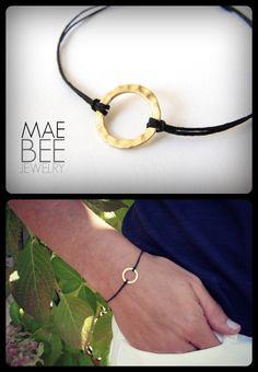 #Gold #Vermeil #Harmony #bracelet on black linen from JewelryByMaeBee on #Etsy. $18.00