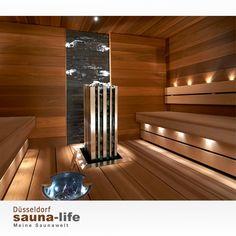 Monolith aggregat i fokus. Sauna Design, Light In, Saunas, Radiators, Sweden, Sweet Home, Spa, Stairs, Home Appliances