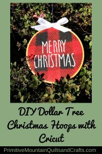 You can buy 3 different colored buffalo plaids at the Dollar Tree Red, black and grey! DIY Dollar Tree Christmas Hoops with Cricut.