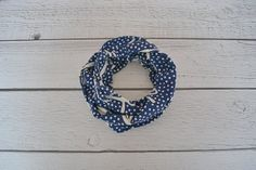Navy Anchor and Dot Toddler and Child Infinity Scarf