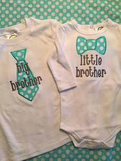 Big Brother Little Brother Shirt Set by Bouffants on Etsy