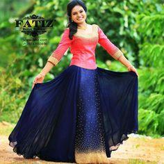 Pretty girl.... Pretty outfit.... Indian Fancy Dress, Indian Dresses, Indian Outfits, Gown Pattern, Dress Patterns, Saree Dress, Dress Skirt, Stylish Dresses, Casual Dresses