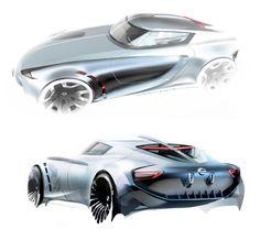 Nissan Concept Design Sketch by Berk Erner