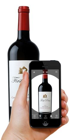 Engage Customers Using Image Recognition Advertising Tech Image, Food Pairing, Wine Pairings, Wine Label, User Experience, Wine Recipes, Digital Marketing, Alcoholic Drinks, Smartphone