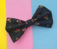 Women's Black Hair Bow Kawaii Cute Handmade Etsy Bow