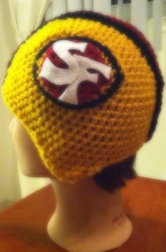 Crochet San Francisco 49 ers Football Helmet by TheLovelyyarns, $20.00