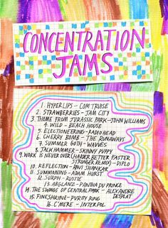 Friday Playlist: Concentration Jams