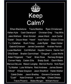 Kellen Kyle..Jake Wethers..Jack Carter..Noel Falcon.. and the list goes on..