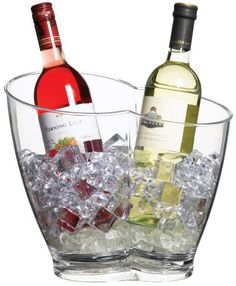Kitchen Craft Bar Craft clear acrylic double sided drinks cooler at the best price! Buy in our online shop and enjoy the promotions. Bar Craft double capacity drinks pail to accommodate and chill at least two bottles at one time. With a stylish curv Bucket Cooler, Wine Bucket, Party Drinks Alcohol, Alcoholic Drinks, Bar, Make Your Own Wine, Wine Parties, Wine And Beer, Bottle Holders
