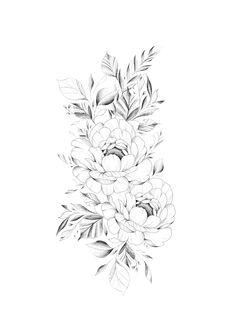 Bild Tattoos, Dog Tattoos, Body Art Tattoos, Sleeve Tattoos, Small Tattoos, Floral Tattoo Design, Henna Tattoo Designs, Flower Tattoo Designs, Flower Tattoos
