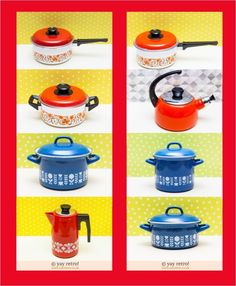 Summer Orange Yellow Vintage Kitchen Camperware At Yay Retro