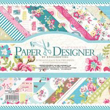 40 hoja / lot 2015 nuevas llegadas bastante lindo diseño floral creativo papercraft papel de arte hechos a mano scrapbooking kit set libros(China (Mainland))