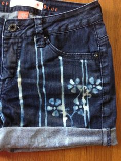 Kimono fabric inspired patterned jeans