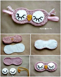 These 92 free Crochet Owl Patterns that are just brilliantly smart, amazingly budget-friendly and insanely cute! Crochet owls will just be Crochet Eyes, Crochet Mask, Knit Or Crochet, Crochet Gifts, Crochet Stitches, Free Crochet, Quick Crochet Patterns, Crochet Shrug Pattern, Crochet Decoration
