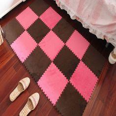 Lekker warme tegels als speelkleed! Foam Fur Puzzle Mats Child Floor Carpet Rugs Soft EVA Ground Mat