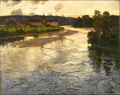 Frits Thaulow #art #painting #pixelle - http://www.pixelle.co/